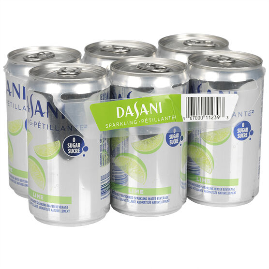 Dasani Sparkling Water - Lime - 6x222ml