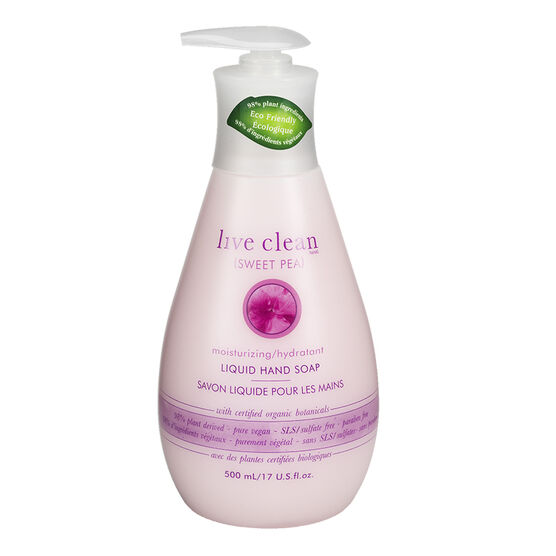 Live Clean Moisturizing Liquid Hand Soap - Sweet Pea - 500ml