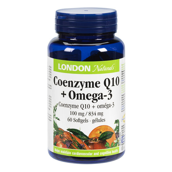 London Naturals Coenzyme Q10 Omega 3 - 60's