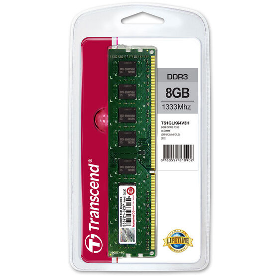 Transcend 8GB DDR3 1333MHz U-DIMM - TS1GLK64V3H