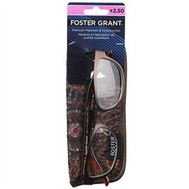 Foster Grant Sarah Brown Reading Glasses with Case - 2.50