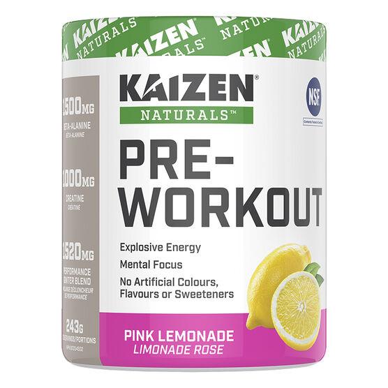 Kaizen Naturals Pre-Workout - Pink Lemonade - 243g