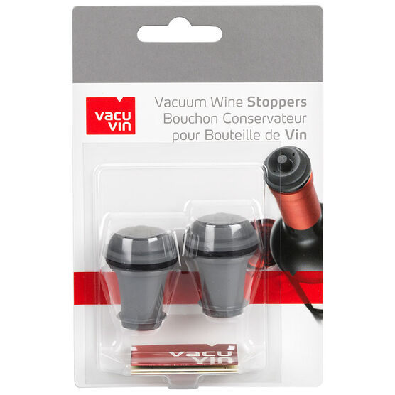 Vacu Vin Wine Stoppers - Grey - 2 pack