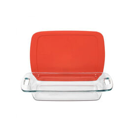 Pyrex Easy Grab Baking Dish with Lid - Oblong - 3 quart