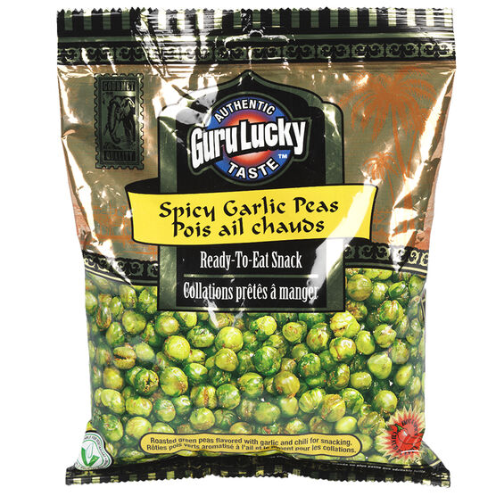 Guru Lucky Ready to Eat Snack - Spicy Garlic Peas - 341g