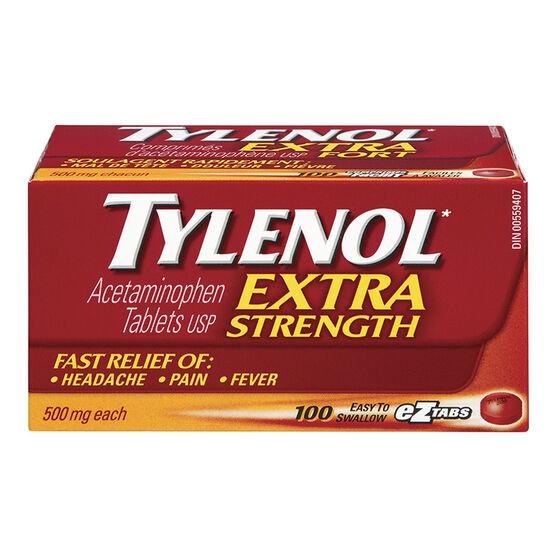 Tylenol* Extra Strength EZ Tablets - 100's