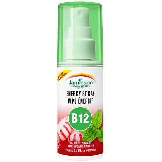 Jamieson Energy Spray B12 - Natural Peppermint - 58ml