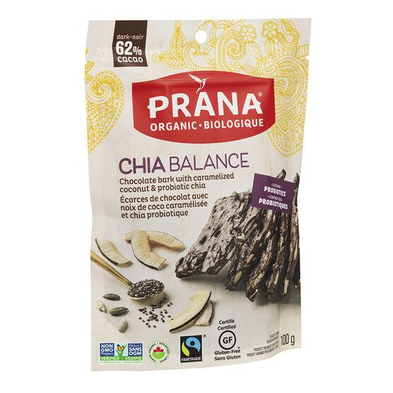 Prana Chia Balance Chocolate Bark - 100g
