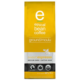 Ethical Bean Ground Coffee - Sweet Espresso - Medium Dark - 227g