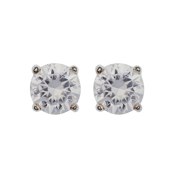 Anne Klein Pendant Stud Earrings - Crystal
