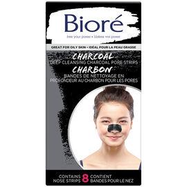 Biore Charcoal Pore Strips - 8's