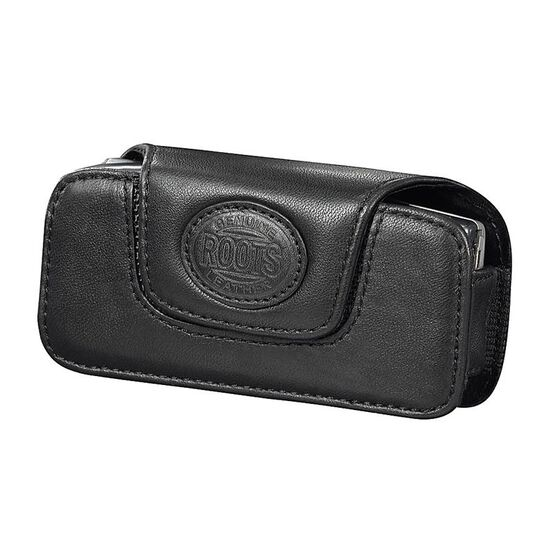 Roots Leather Universal Cell Phone Pouch - Horizontal - Black