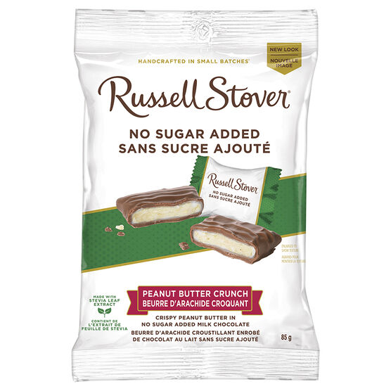Russell Stover No Sugar Added Chocolate - Peanut Butter Crunch - 85g