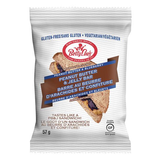 BettyLou's Peanut Butter & Jelly Bar - Blueberry - 57g