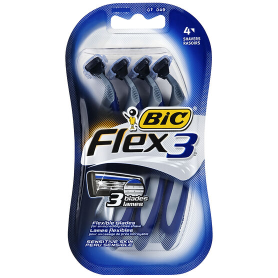 Bic Flex 3 Disposable Men's Shavers - 4's