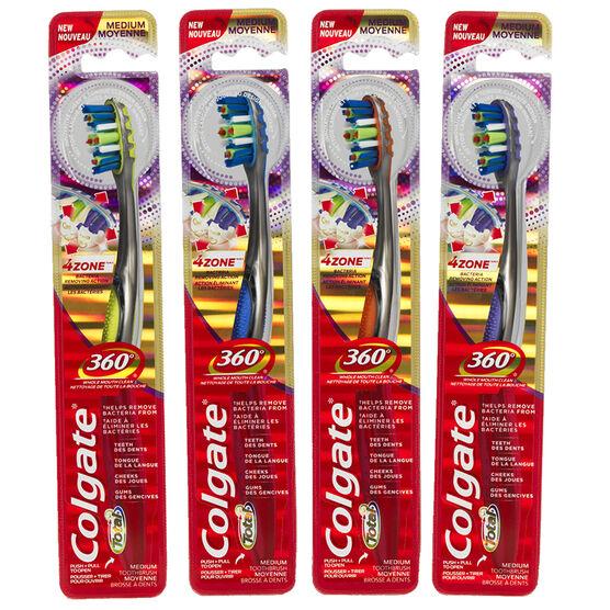 Colgate Total 360° 4Zone Tooth Brush Assorted - Medium