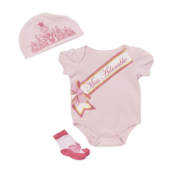 Baby Mode Miss Adorable 3-Piece Onesie Set - 7759 - Assorted