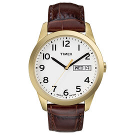 Timex Style Watch - White/Brown - T2N065GP
