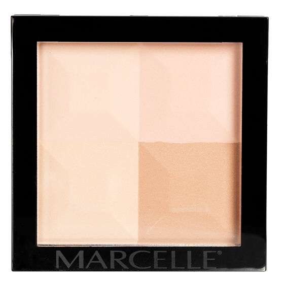 Marcelle Quad Pressed Powder - Medium