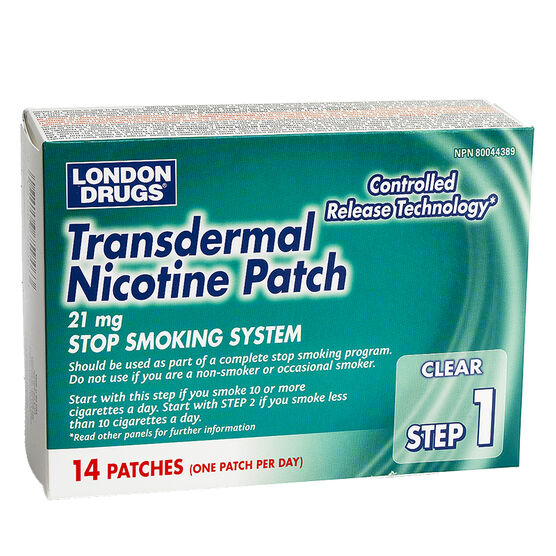 London Drugs Transdermal Nicotine Patch Step 1 - 21mg - 14's