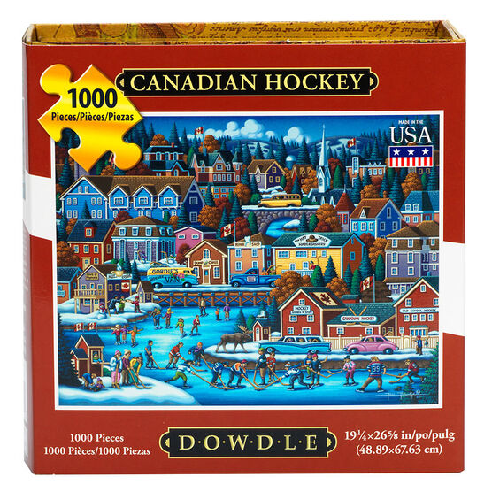Canadian Hockey Puzzle - 1000 pieces - Assorted