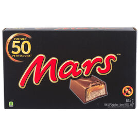 Mars Fun Size Candy Bars - Peanut Free - 50's