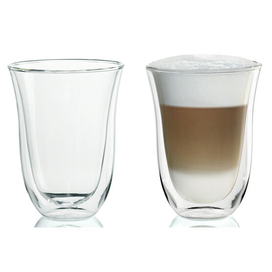 DeLonghi Latte Glasses - 2 pack