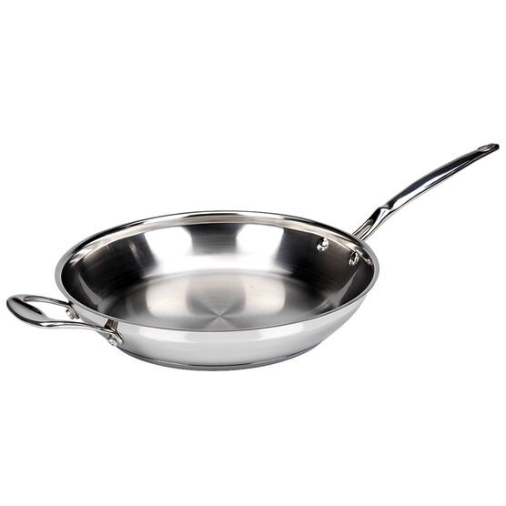 Fresco Fry Pan with Handle - Stainless Steel - 30cm