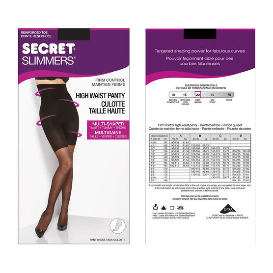 Secret Slimmers Firm Control - B - Black