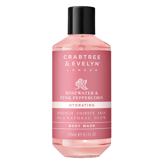 Crabtree & Evelyn Rosewater & Pink Peppercorn Hydrating Body Wash - 250ml