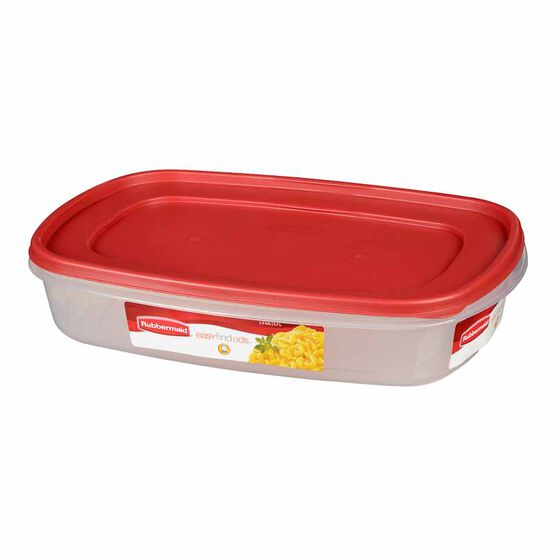 Rubbermaid Easy Find Lid Rectangle Food Storage Container - Chili Red - 5.7L