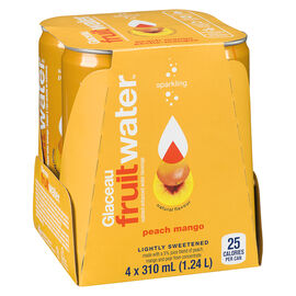 Glaceau FruitWater - Peach Mango - 4 x 310ml