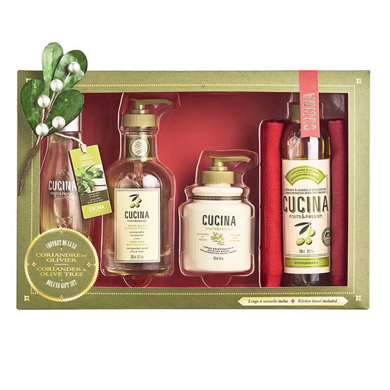 Fruits & Passion Cucina Deluxe Kitchen Set - Coriander and Olive Tree - 4 piece