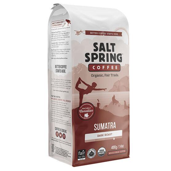 Salt Spring Coffee Sumatra - Dark Roast - Whole Bean - 400g