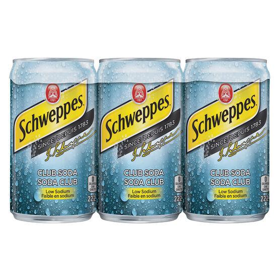 Schweppes Club Soda - 6x222ml