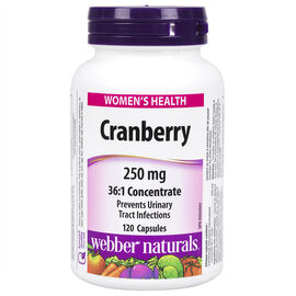Webber Naturals Cranberry Concentrate - 250mg - 120's