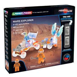 Laser Pegs Building Blocks Playset - Mission Mars Collection - Mars Explorer