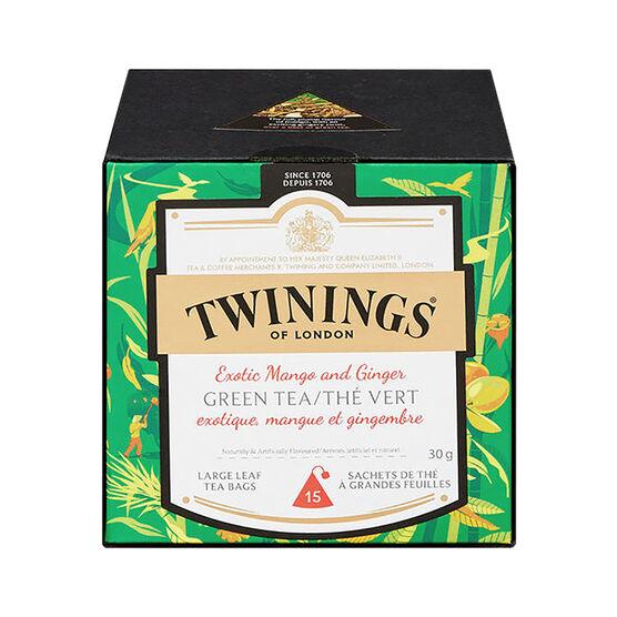 Twinings Green Tea - Mango & Ginger - 15's
