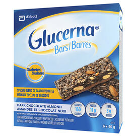 Glucerna Bars - Dark Chocolate Almond - 6 x 40g