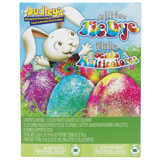 Dudley's Eggceptional Decorating Kit - Tie Dye and Glitter