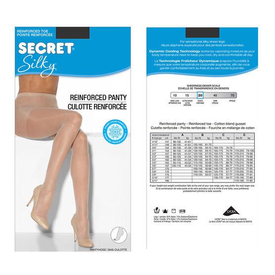 Secret Silky Sheet Pantyhose - B - Nightshade