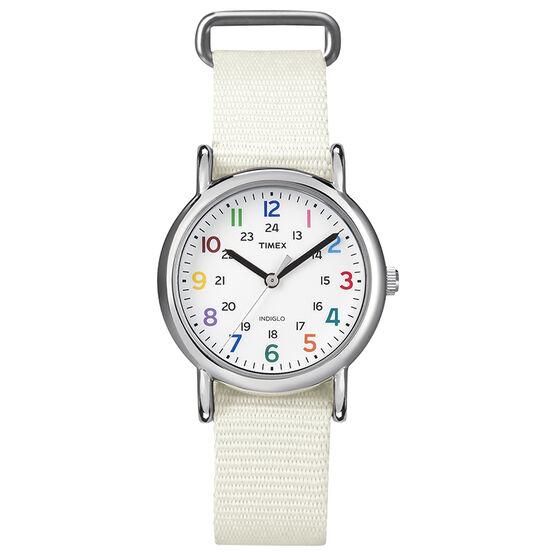 Timex Weekender Watch - White - T2N837GP