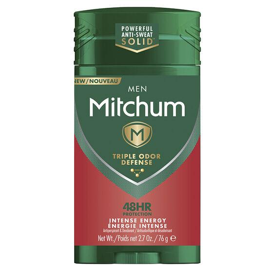 Mitchum Men Triple Odor Defense Antiperspirant - Intense Energy - 76g