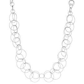 "Anne Klein Open Link Chain Necklace - Silver - 16"""