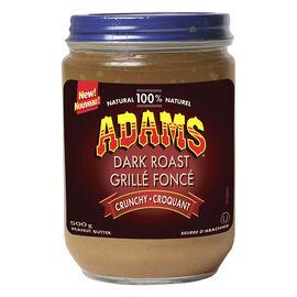 Adams Dark Roast Peanut Butter - Crunchy - 500g