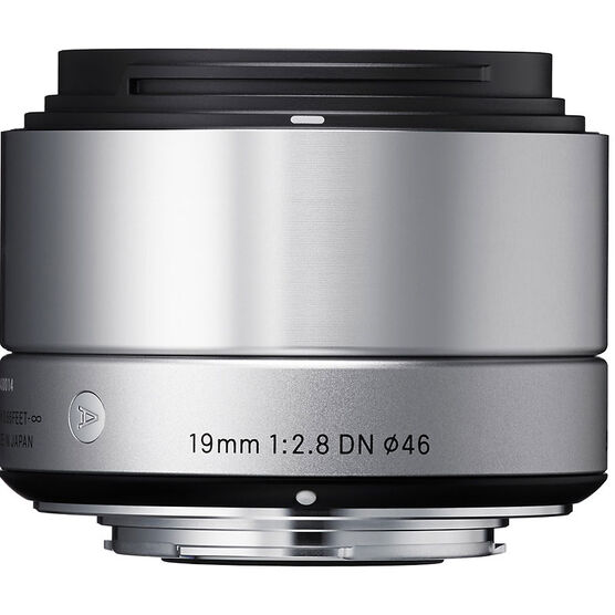 Sigma Art 19mm F2.8 DN Silver Lens for Sony NEX - A19DNBKSE