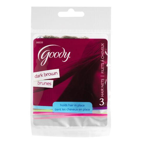 Goody Hair Nets - Dark Brown - 3's
