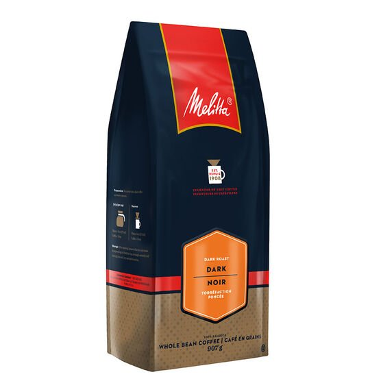 Melitta Whole Bean Coffee - Dark Roast - 907g