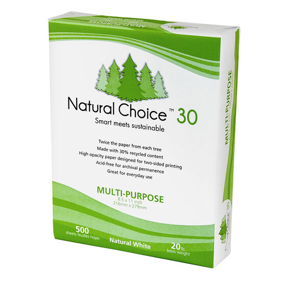 Norpac Natural Choice 30 Printer Paper Case - 500 Sheets x 10 Pack - RW1035C