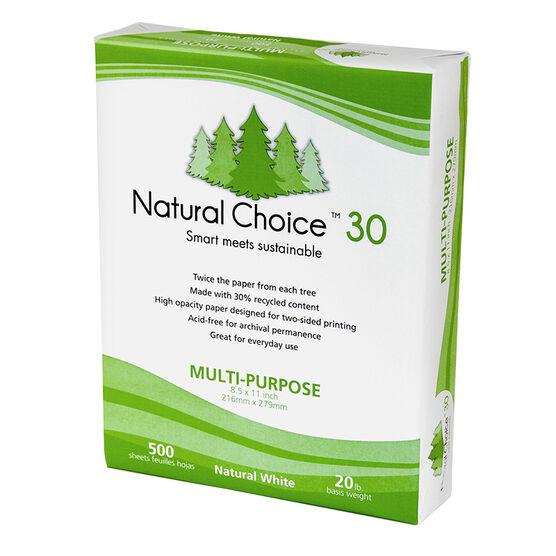 Norpac Natural Choice 30 Printer Copier Paper - 500 Sheets - 92 Brightness - 20 lb.